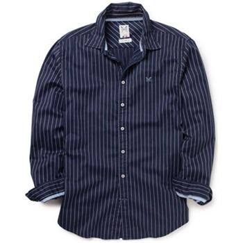 Crew Clothing Navy/White Vintage Stripe Shirt