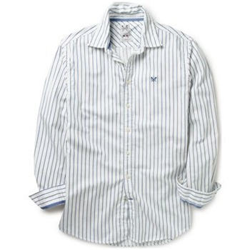 Crew Clothing Blue/White Vintage Stripe Shirt