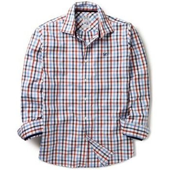Crew Clothing Blue/White Ellingham Pinpoint Shirt