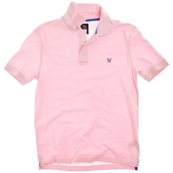Crew Clothing Pink Lewis Polo Shirt