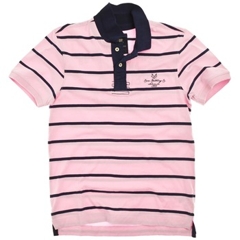 Crew Clothing Pink/Navy Regatta Polo Shirt