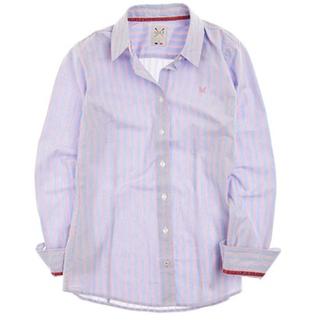 Crew Clothing Blue/Pink Annie Stripe Shirt