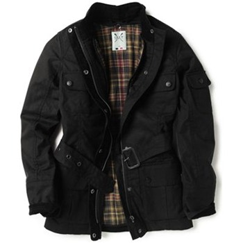 Crew Clothing Black Highland Wax Jacket