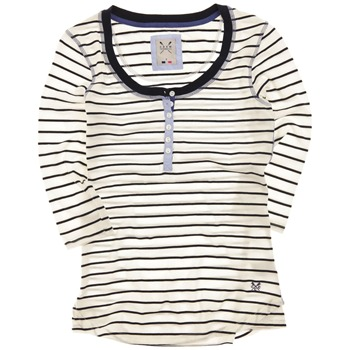 Crew Clothing White/Navy Giselle Stripe Top