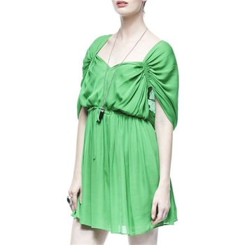 Halston Heritage Green Chiffon/Silk Kaftan Dress