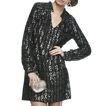 Milly Black Kelli Sequin Link Tunic Dress