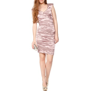 Nicole Miller Pink Metallic Cap Seeve Mini Dress