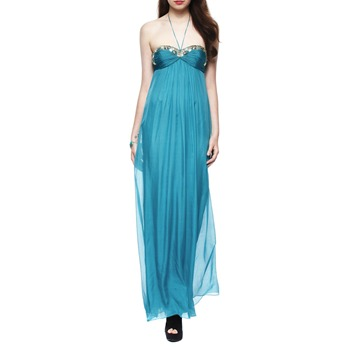 Temperley London Green Liviana Embellished Silk Dress