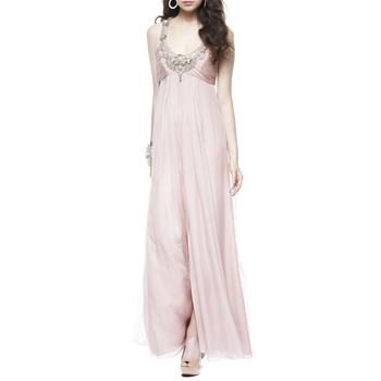 Temperley London Pink Zora Embellished Silk Dress