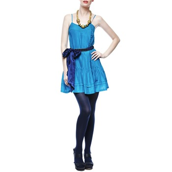 Twenty8Twelve by s miller Electric Blue Pleated Chloe Silk Dress