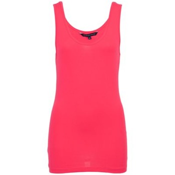 French Connection Hot Pink Scoop Neck Tank Top