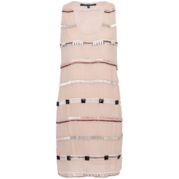 French Connection Nude Embellished Stripe Dress