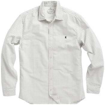 Joules Cream Check Cotton Shirt