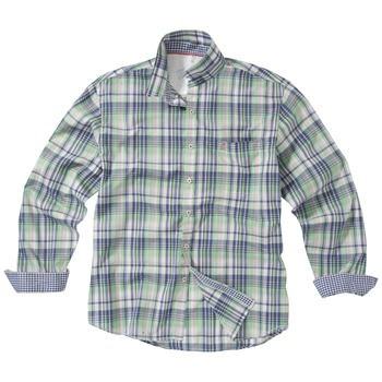Joules Green/Blue Fairbourne Check Shirt
