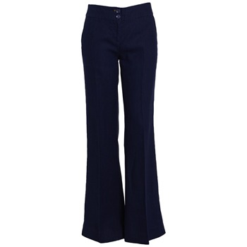 Joules Blue Linen Wide Leg Trousers