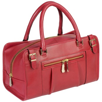Aubrey England Cherry Searle Leather Bowling Bag