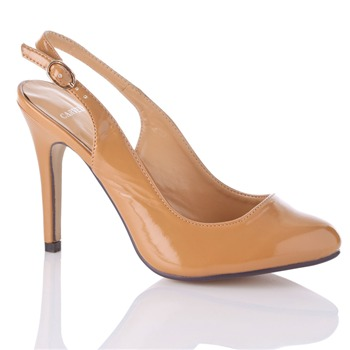 Carvela by Kurt Geiger Tan Celia Slingabck Shoes 10.5cm Heel