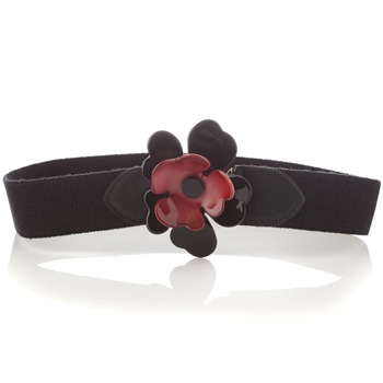 See by Chloé Black Flower Elasticated Belt