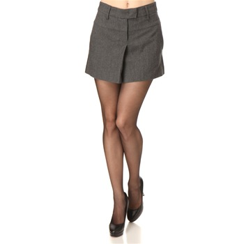 See by Chloé Grey Wool Pleated Skirt