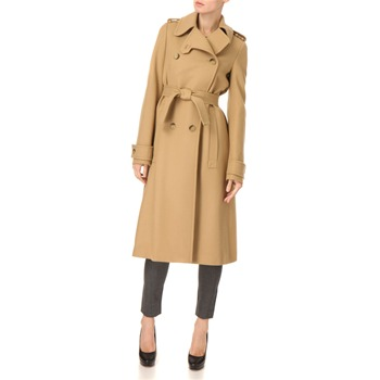 See by Chloé Camel Double Breasted Wool Coat