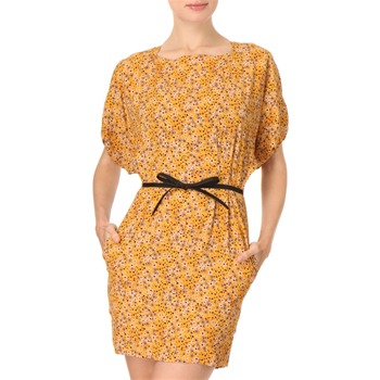 See by Chloé Yellow Flower Print Belted Dress