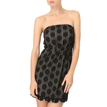 See by Chloé Black Gingham Lace Dress
