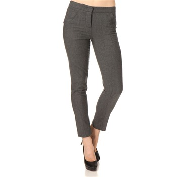 See by Chloé Grey Wool Trousers 29