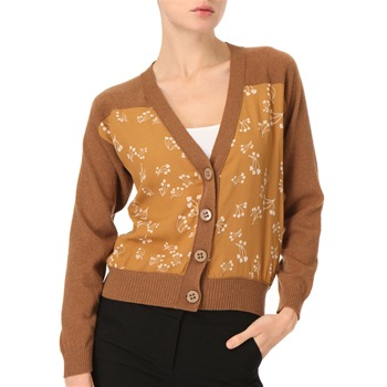 See by Chloé Mustard V-Neck Cardigan