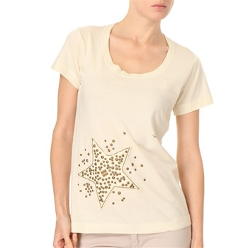 See by Chloé Cream Embellished Star T-Shirt