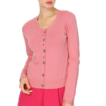 Avoca Anthology Pink Round Neck Cotton Cardigan