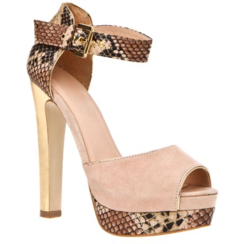 Timeless Nude Knock Peep Toe Shoes 14cm Heel