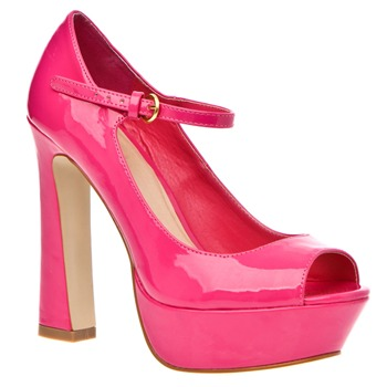 Rascal Pink Laura Peep Toe Shoes 13cm Heel