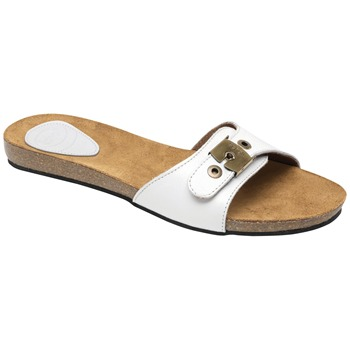Scholl Off White New Bahama Leather Mules