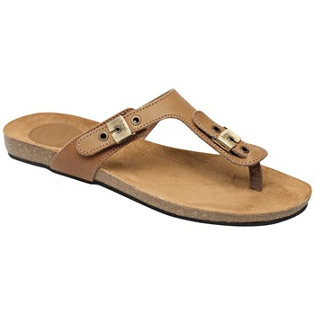 Scholl Tan New Bimini Leather Sandals