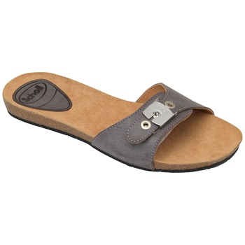 Scholl Dark Brown New Bahama Wax Leather Mules