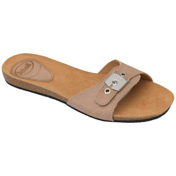 Scholl Tan New Bahama Wax Leather Mules