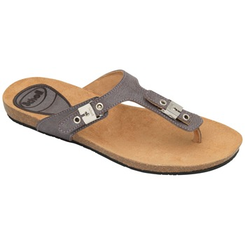 Scholl Dark Brown New Bimini Wax Leather Mules
