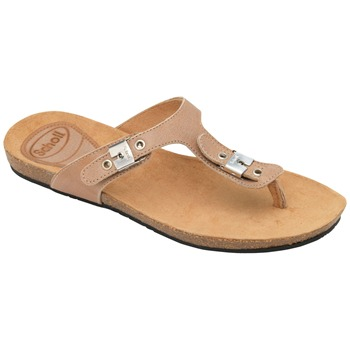 Scholl Tan New Bimini Wax Leather Mules