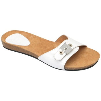 Scholl White New Bahama Patent Leather Mules