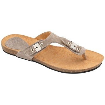 Scholl Taupe New Bimini Suede Mules
