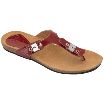 Scholl Cherry New Bimini Patent Leather Mules