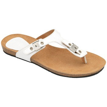 Scholl White New Bimini Patent Leather Mules