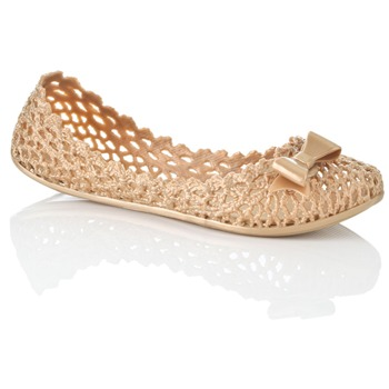 Mel Gold Jube Jelly Shoes
