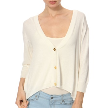 Juicy Couture Cream Loose Fit Cardigan