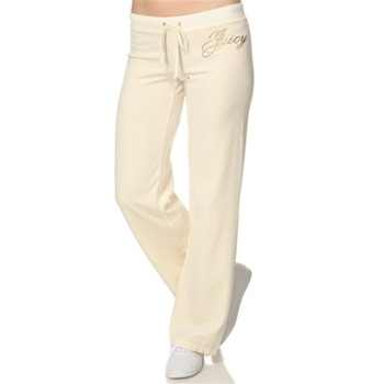 Juicy Couture Cream Logo Velour Cassic Tracksuit Pants 32