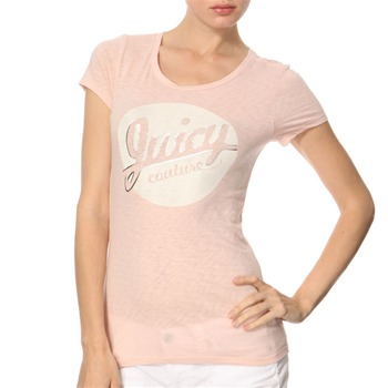 Juicy Couture Coral Printed Logo Jersey Top