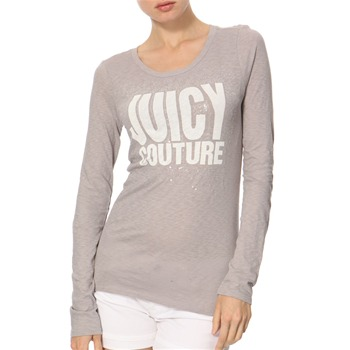 Juicy Couture Grey/White Sequined Jersey Top