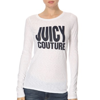 Juicy Couture White/Navy Sequined Jersey Top