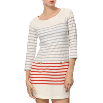 Juicy Couture Cream/Red Stripy Cotton Dress
