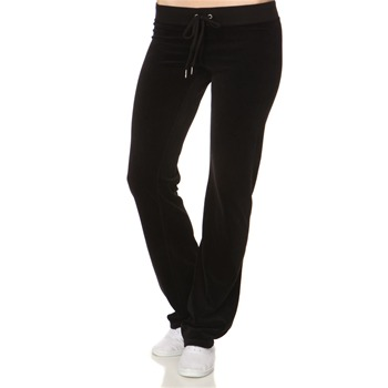 Juicy Couture Black Classic Velour Tracksuit Pants 32